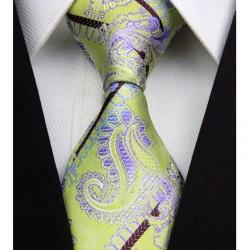 Hodvábna kravata zelená NT0335
