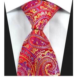 Hodvábna kravata červená NT0332