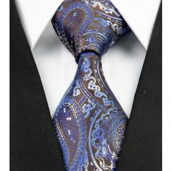 Hodvábna kravata modrá NT0292