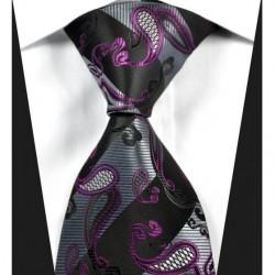 Hodvábna kravata čierná NT0333