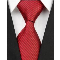 Hodvábna kravata červená NT0093