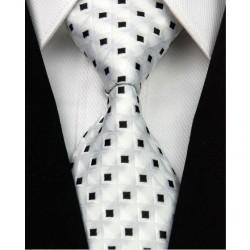 Hodvábna kravata biela NT0032