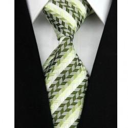 Hodvábna kravata zelená NT0038