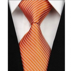 Hodvábna kravata oranžova NT0045