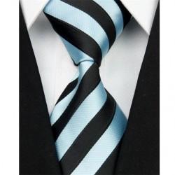 Hedvábná kravata černá NT0050
