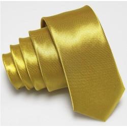 Úzka SLIM kravata zlatá