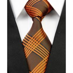 Hodvábna kravata oranžova NT0218
