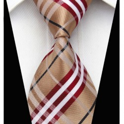 Hodvábna kravata hnědá NT0206