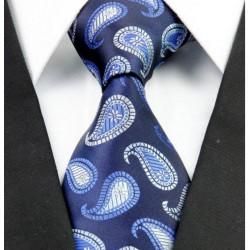 Hodvábna kravata modrá NT0259