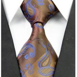 Hodvábna kravata hnědá NT0256