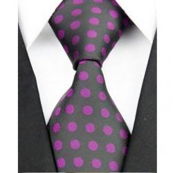 Hodvábna kravata čierna NT0193