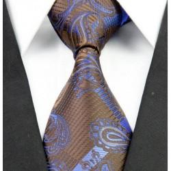 Hedvábná kravata kašmírová hnědá NT0248