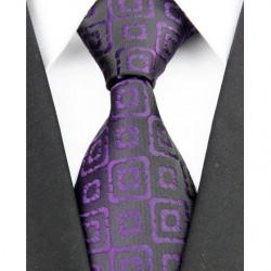 Hodvábna kravata čierna NT0195