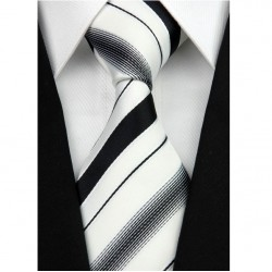 Hodvábna kravata biela NT0207