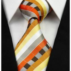 Hodvábna kravata oranžova NT0249