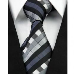 Hodvábna kravata čierna NT0228