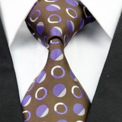 Hodvábna kravata hnědá NT0266