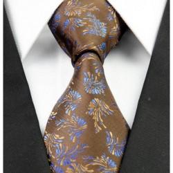 Hodvábna kravata hnědá NT0234