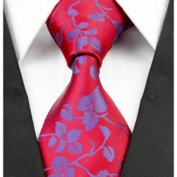 Hodvábna kravata červená NT0226