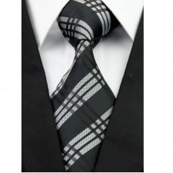 Hodvábna kravata čierna NT0242