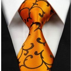 Hodvábna kravata oranžova NT0261