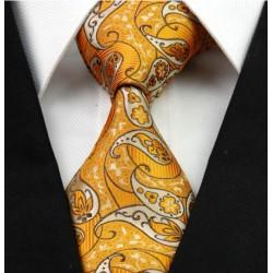 Hodvábna kravata oranžova NT0238