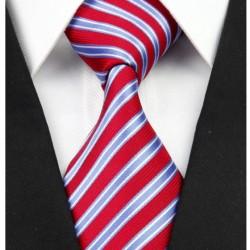 Hodvábna kravata červená NT0240