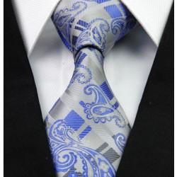 Hodvábna kravata strieborná NT0267