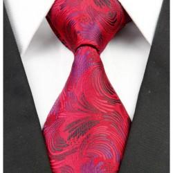 Hodvábna kravata červená NT0252