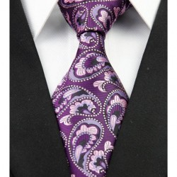 Hedvábná kravata kašmírová fialová NT0212