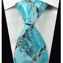 Hodvábna kravata modrá NT0363