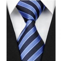 Hodvábna kravata modrá NT0076