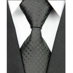 Hodvábna kravata čierna NT0034