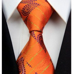 Hodvábna kravata oranžova NT0318
