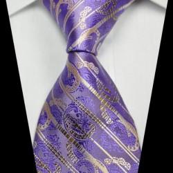 Hedvábná kašmírová kravata fialová NT0342