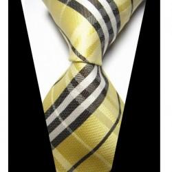 Hedvábná kravata žlutá NT0429