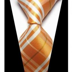 Hodvábna kravata oranžova NT0431