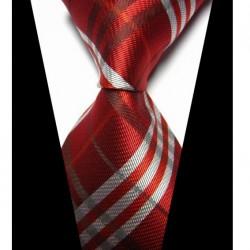 Hodvábna kravata červená NT0428