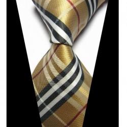 Hodvábna kravata hnědá NT0430