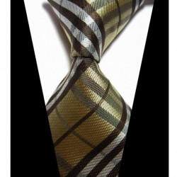 Hedvábná kravata zlatá NT0425