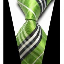 Hodvábna kravata zelená NT0426