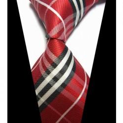 Hodvábna kravata červená NT0423