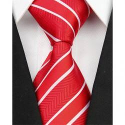 Hodvábna kravata červená NT0065