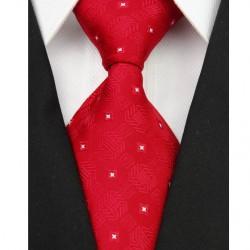 Hodvábna kravata červená NT0074