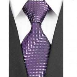 Hodvábna kravata fialová NT0185