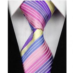 Hedvábná kravata pruhovaná NT0095