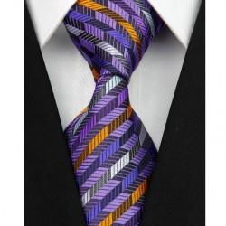 Hodvábna kravata fialová NT0069