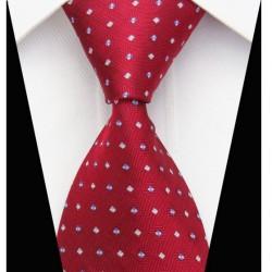 Hodvábna kravata červená NT0061