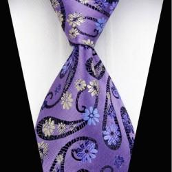 Hodvábna kravata fialová NT0339