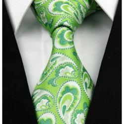 Hodvábna kravata zelená NT0254